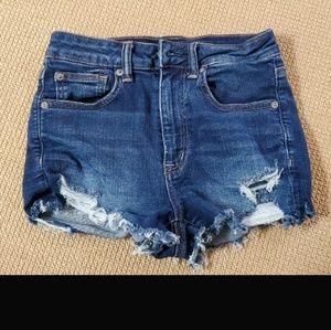 American Eagle distressed cut off shorts
